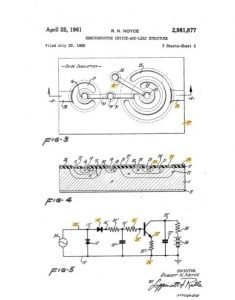 Bob Noyce - sein entscheidendes Patent (via patents.googlr.com)