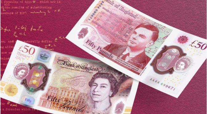 Späte Ehrung: Großbritannien widmet Alan Turing die neue 50-Pfund-Note (Abb.: Bank of England)