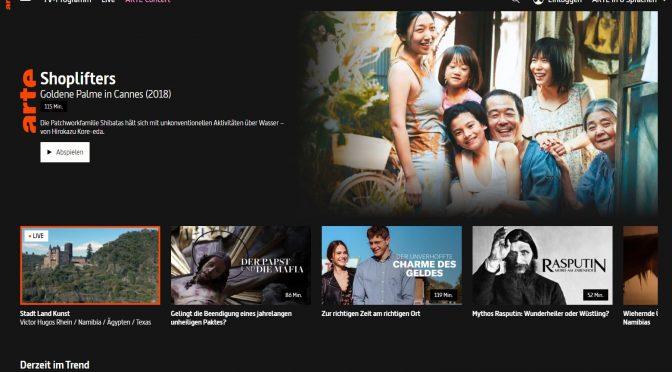 Die Arte-Mediathek: wertvoller, kostenloser Video-Content (Screenshot)