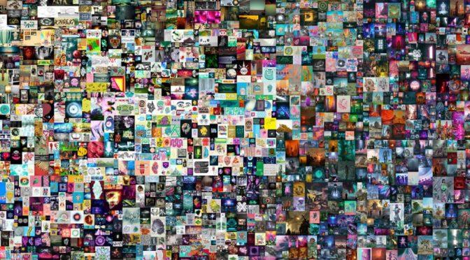 """""""Everydays. The First 5000 Days"""" - NFT-Kunst von Beepl versteigert für 69 Mio (Bild: Christies)"""