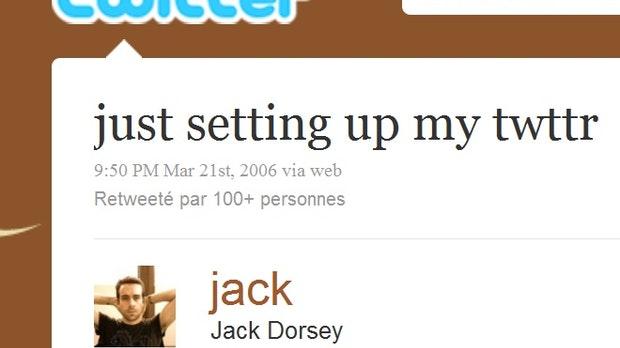 Jack Dorsey und sein erster Tweet - per NFT geschütztes Kunstwerk