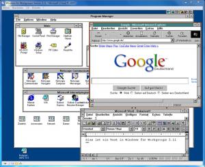 Das erste brauchbare Windows mit der Laufnummer 3.11 (Screenshot via Wikimedia)
