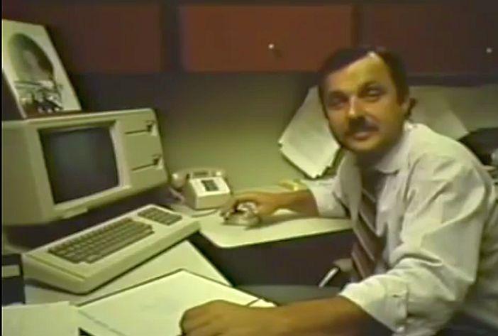 Apple Lisa (Screenshot aus einem Apple-Promo-Video von 1983)