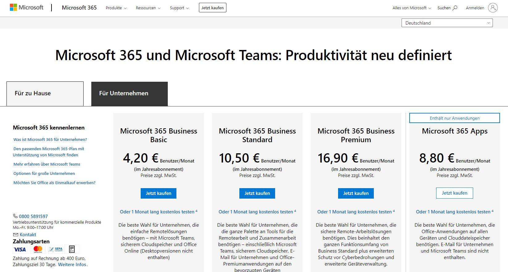 Teams als Groupware nur mit MS-Account und Office-365-Abo