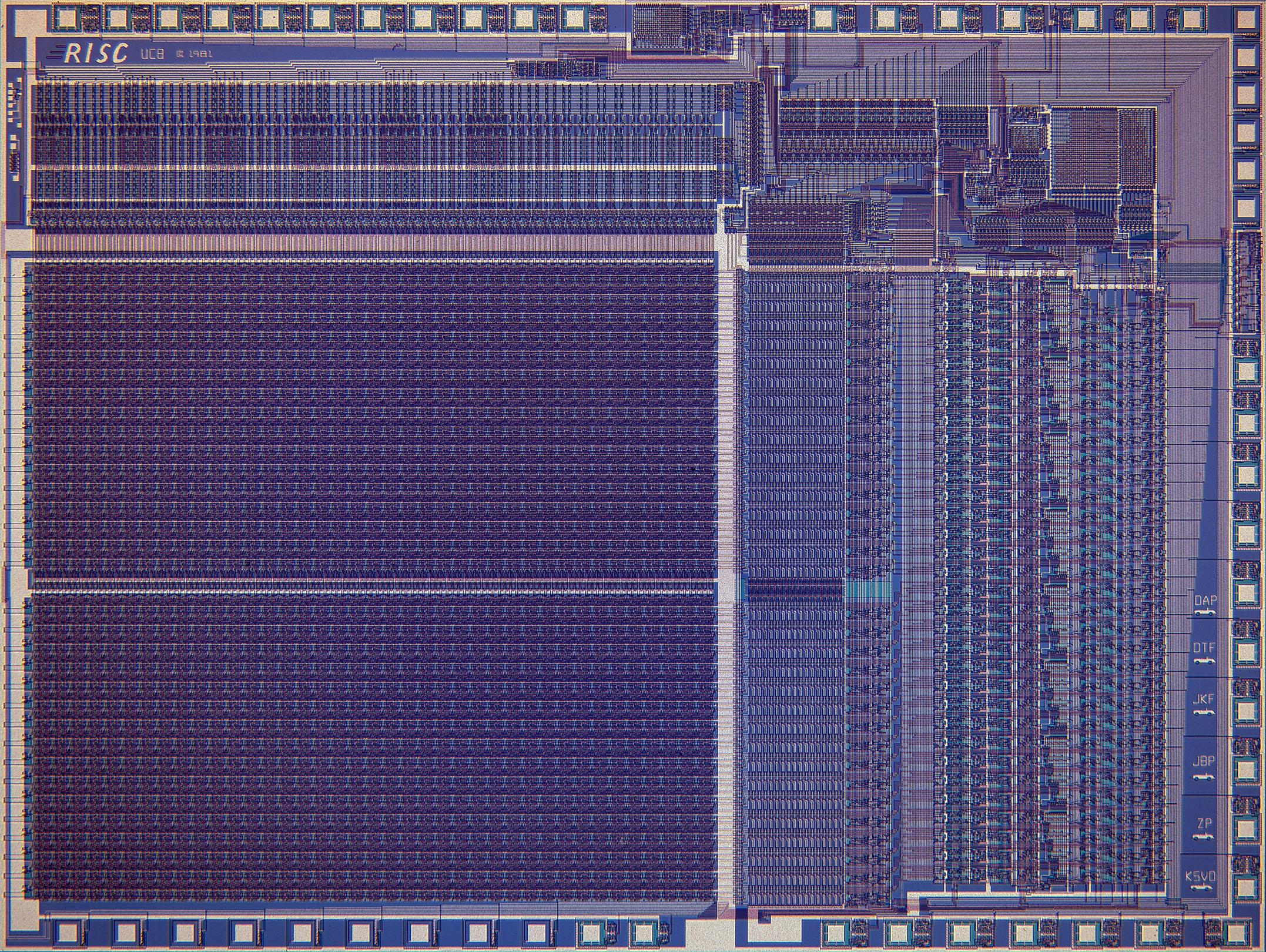 Der RISC-I-Protoyp, noch nicht in VLSI ausgeführt (Foto: UC Berkeley)