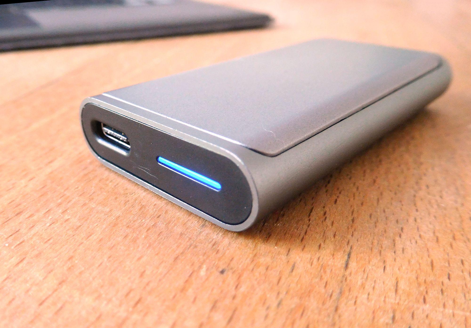 Das hintere Ende mit USB-C-Anschluss (Foto: DS)
