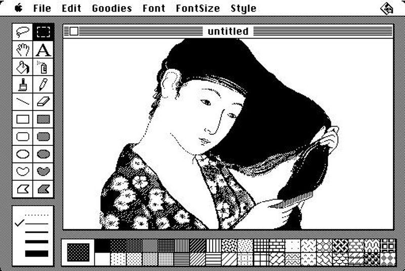 MacPaint, die Mutter aller Malprogramme (Screenshot via computerhistory.org)