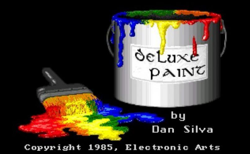 Das legendäre Deluxe Paint - damals ein Quantensprung (Screenshot via computerhistory.org)