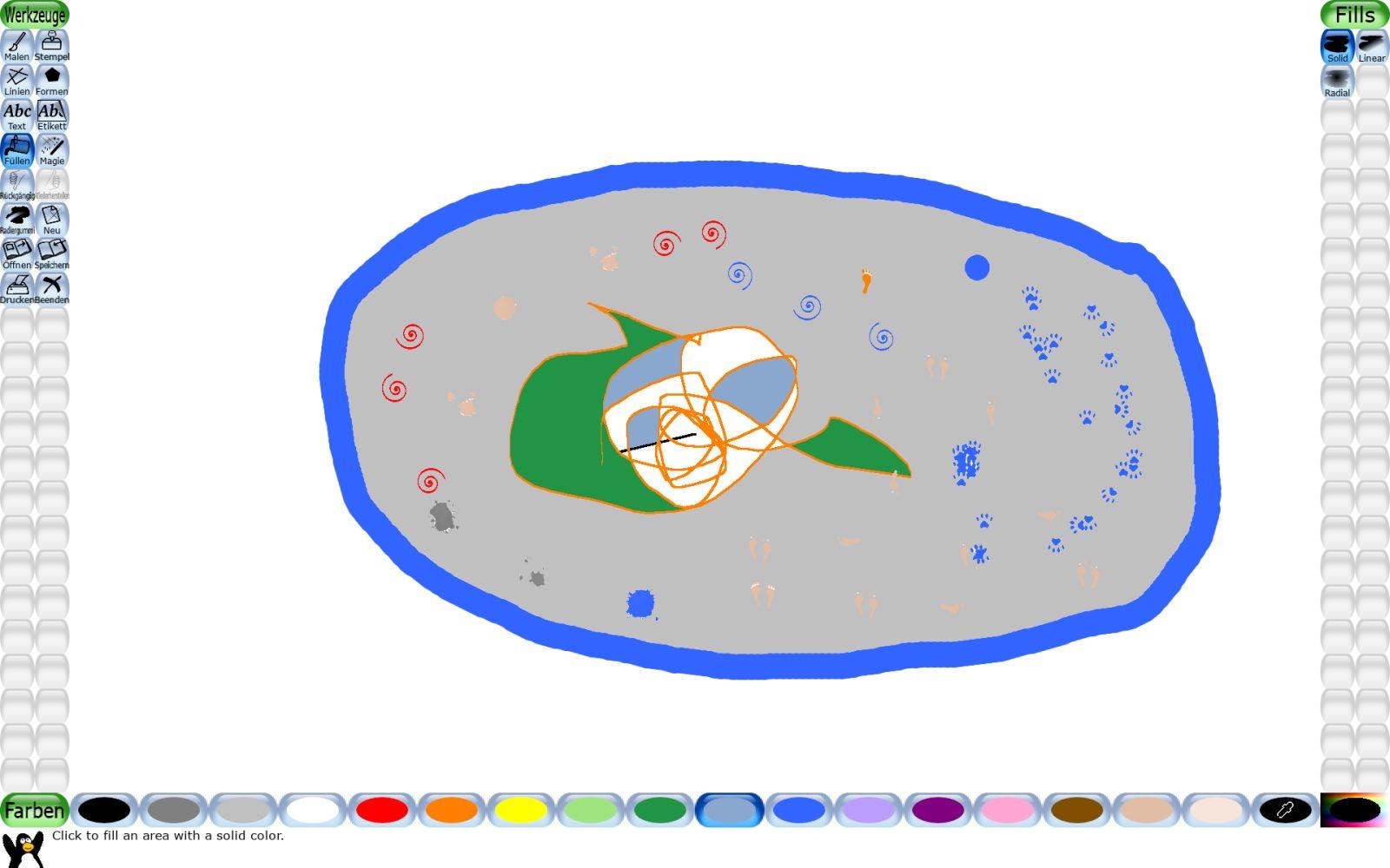 Tux Paint, das Malprogramm speziell für Kinder (Screenshot: DS)