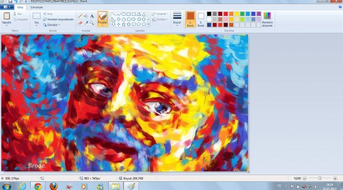 Echte Kunst mit Windows 7 Paint (Grafik: Ahmet Broge)